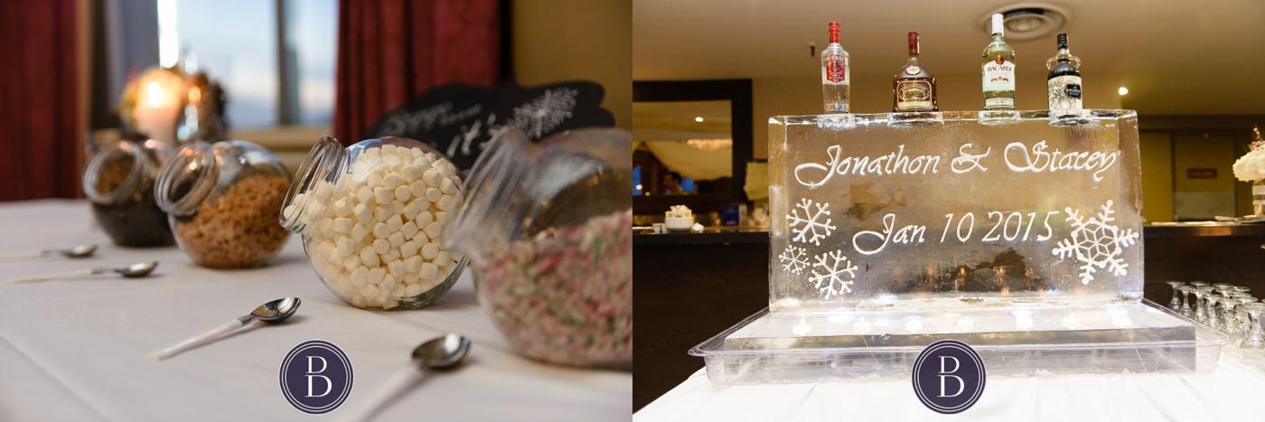 Ice sculpture desert bar at reception Marlborough Hotel