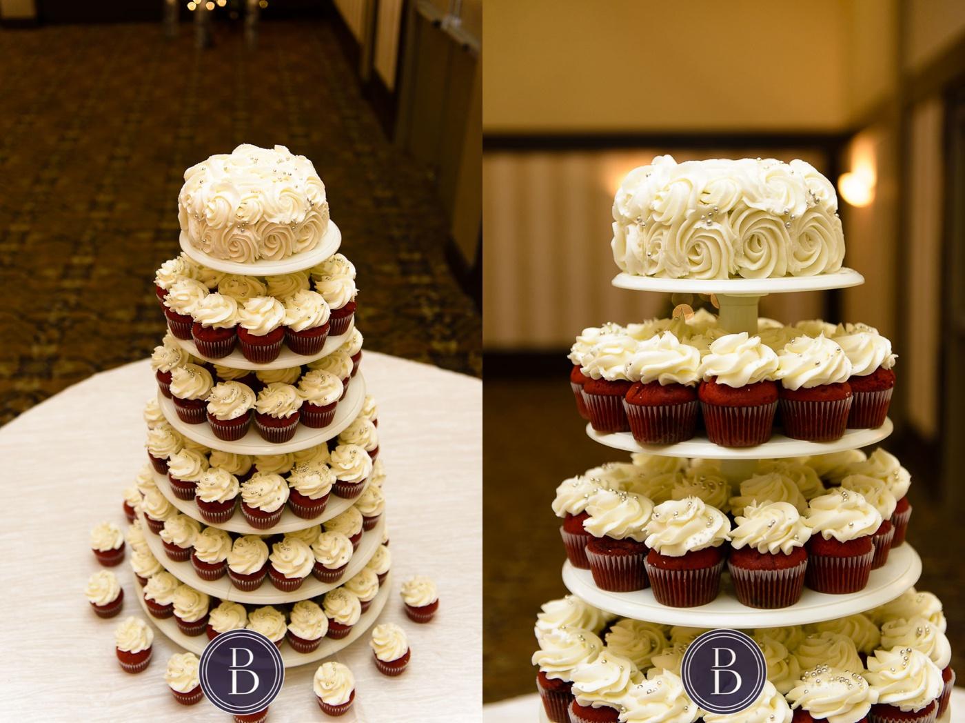 Wedding cupcakes at reception Marlborough Hotel