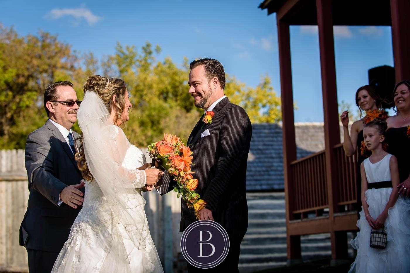 Bride and groom wedding fort gibraltar