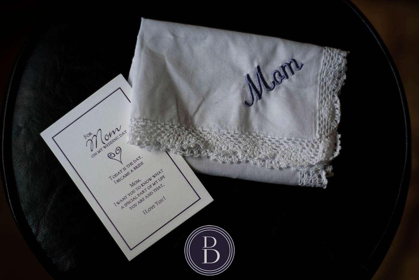 Bridal details mom