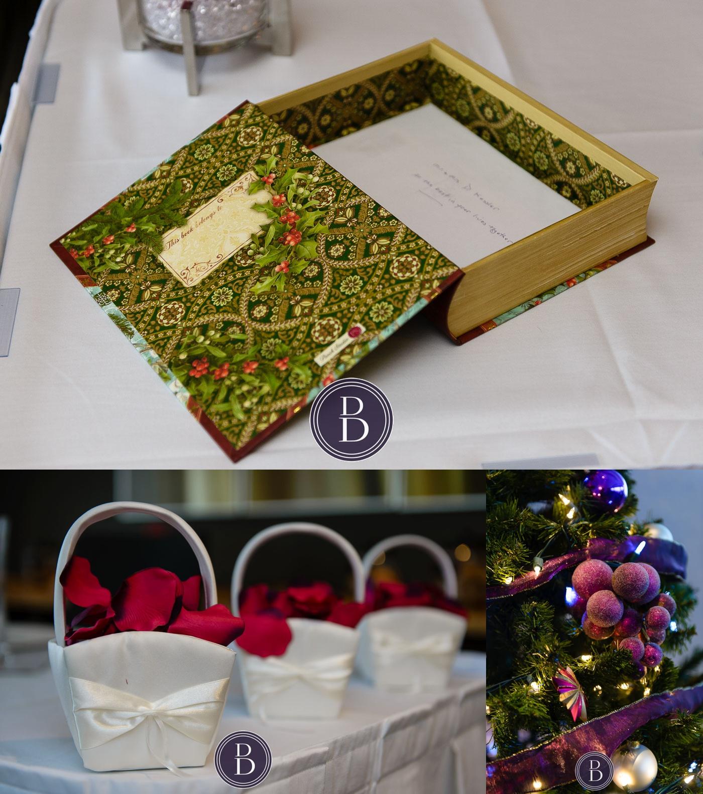 wedding details basket sign in book