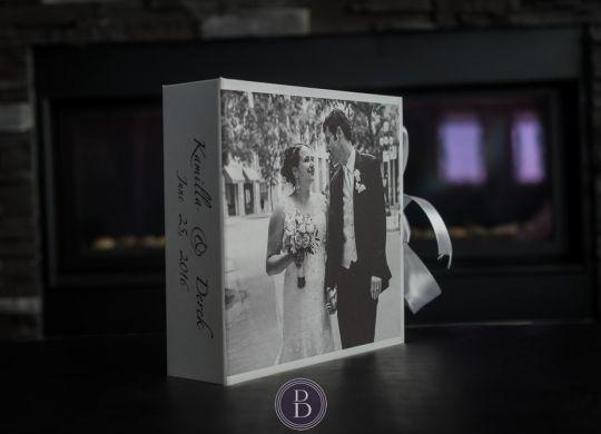 handcrafted wedding album box