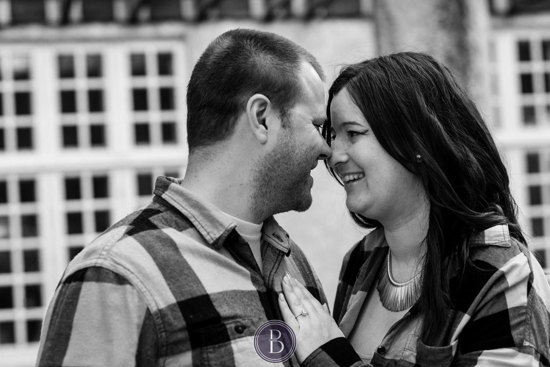 Assiniboine Park Engagement Photos lovely smiles