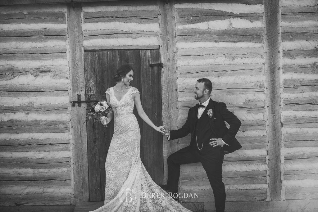 Winnipeg Wedding photographers bride and groom Fort Gibraltar