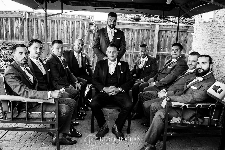 boys group portrait wedding Winnipeg