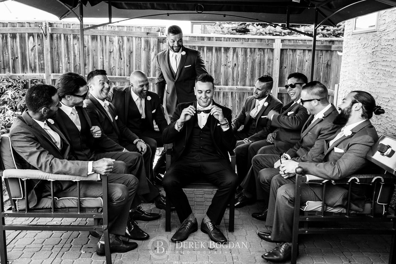 boys getting ready wedding in Winnipeg