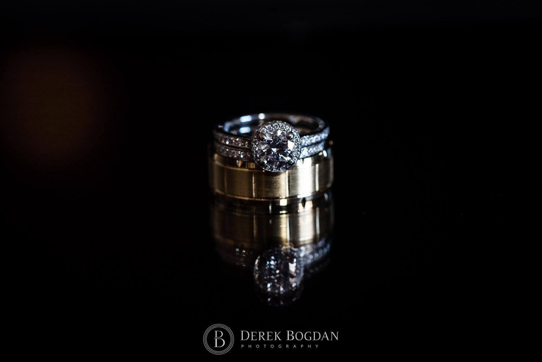 Winnipeg wedding rings bride and groom