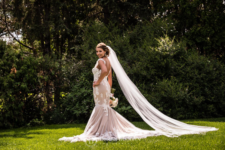 beautiful bride custom wedding gown Winnipeg