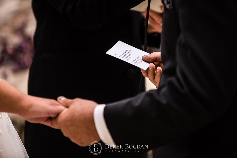 bride ceremony vows speech detail