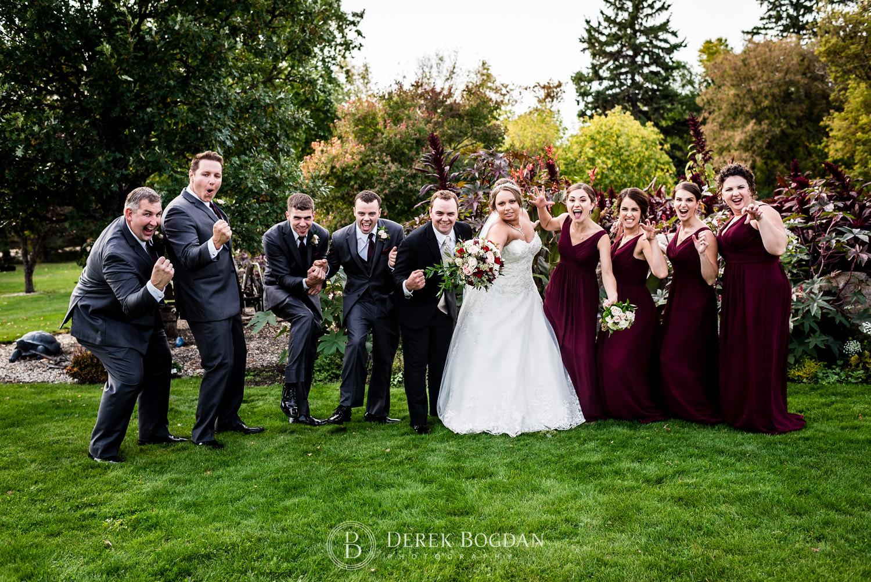 wedding party fun outdoor photo