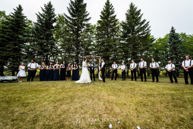 outdoor ceremony Manitoba wedding