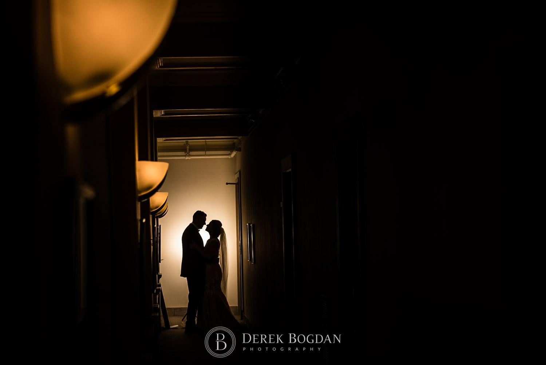 dramatic evening silhouette Winnipeg best wedding photographer