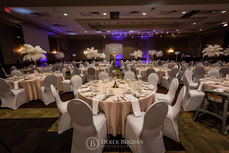 wedding at Viscount Gort decor