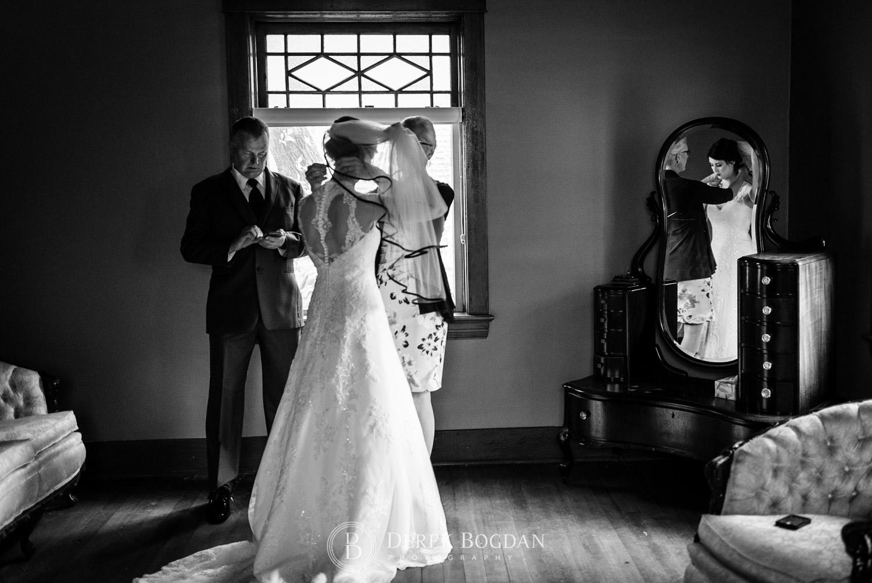 bridal final touche getting ready Evergreen Village Wedding Niverville Manitoba