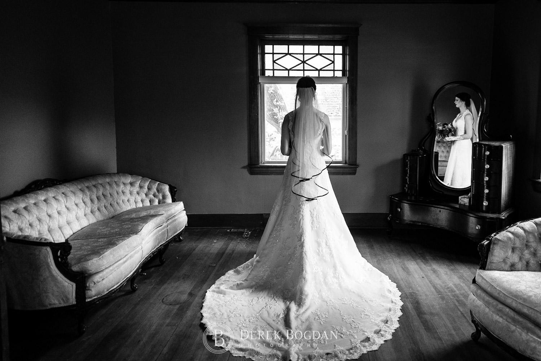 bridal indoor portrait Evergreen Village Wedding Niverville Manitoba
