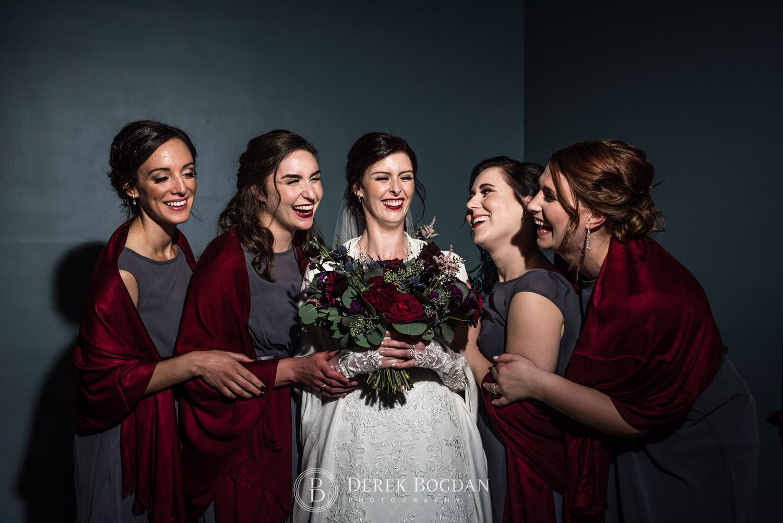 bridesmaids fun photo Evergreen Village Wedding Niverville Manitoba