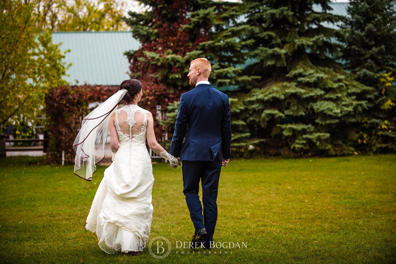 bride and groom Evergreen Village Wedding Niverville Manitoba