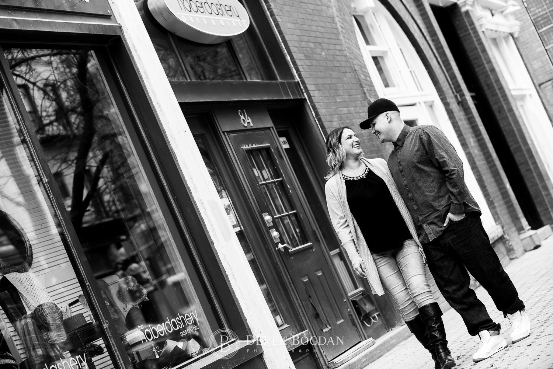 Engagement photos Albert Street Winnipeg
