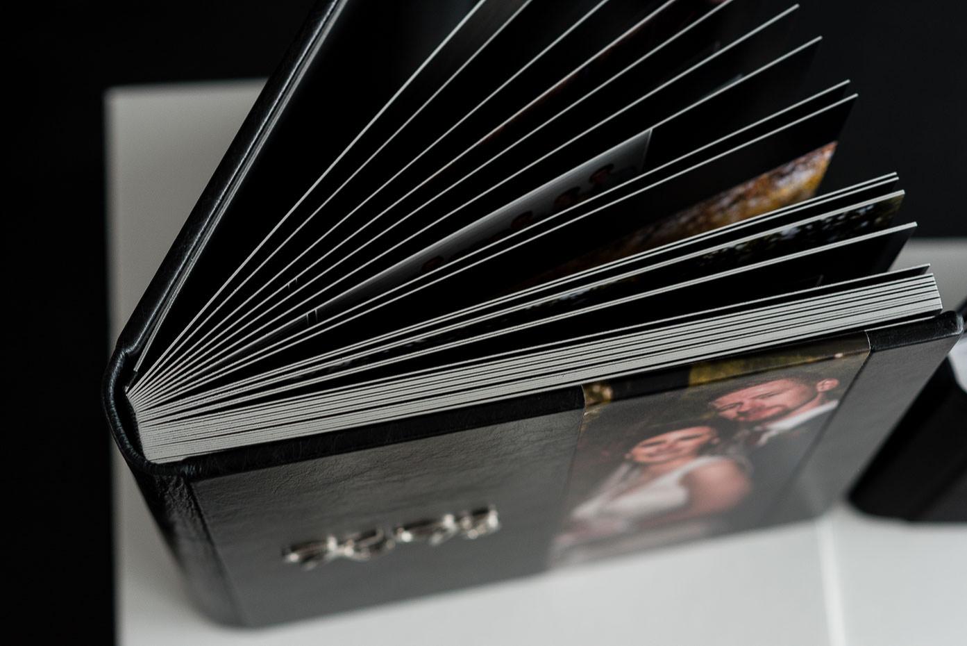 luxury heirloom wedding album hot binding pages