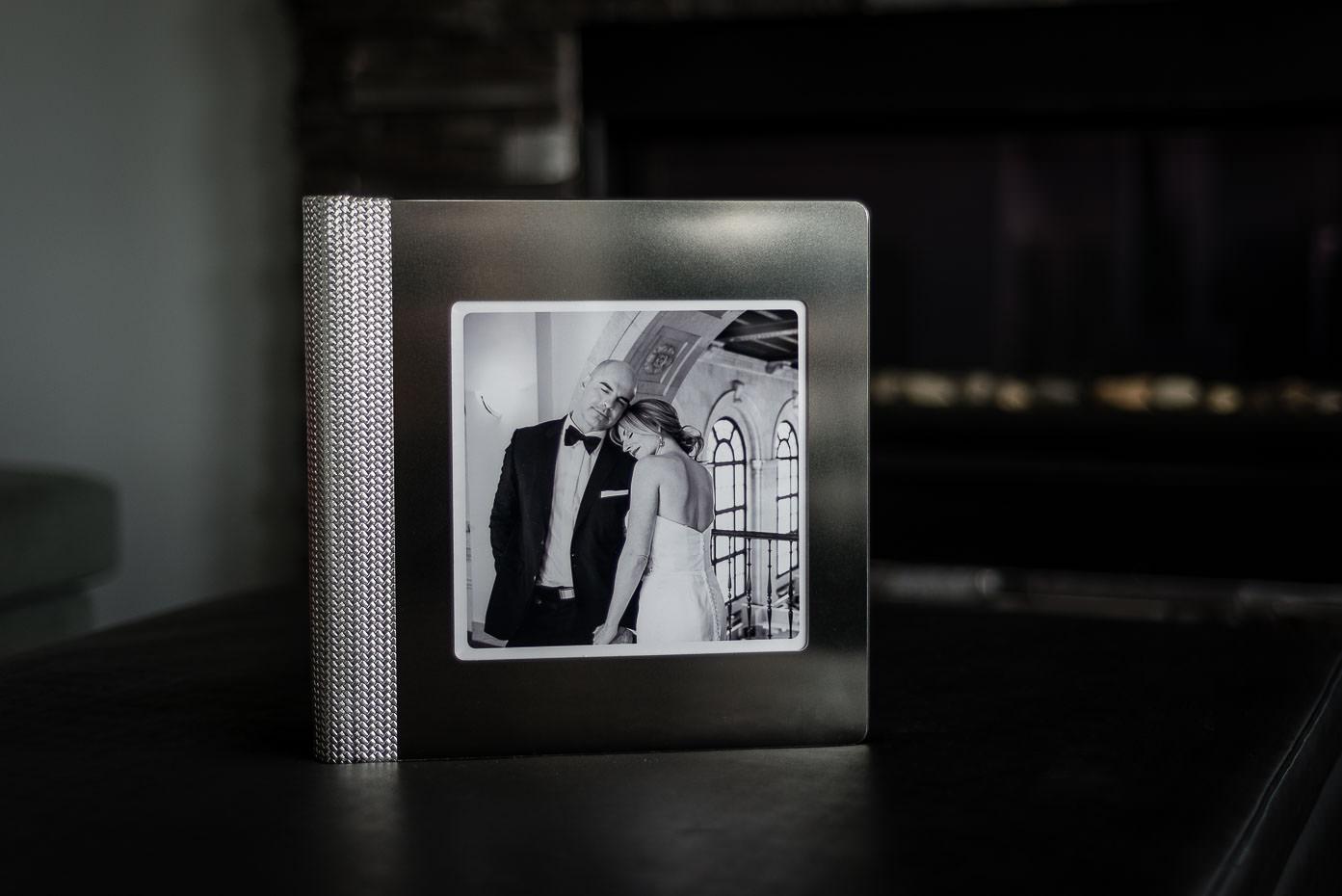 luxury heirloom wedding album cover