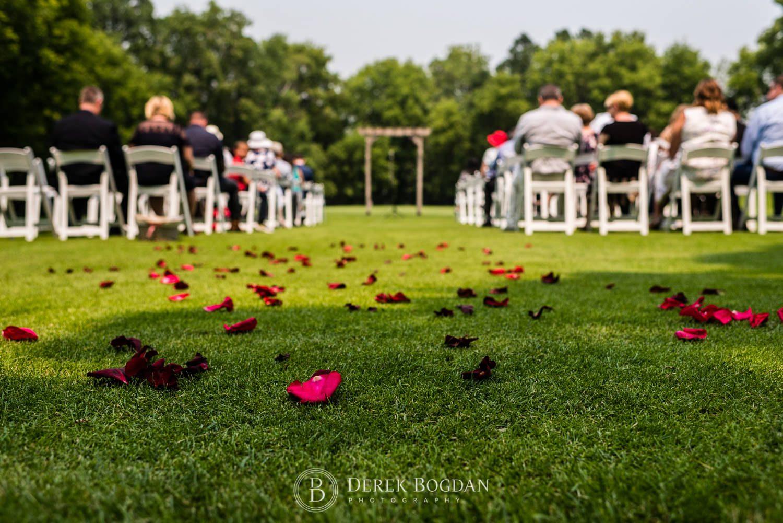 Bel Acres Golf wedding Manitoba ceremony decor on golf course