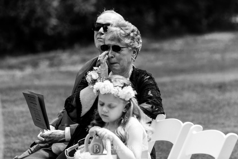 Bel Acres Golf wedding Manitoba ceremony emotional parents