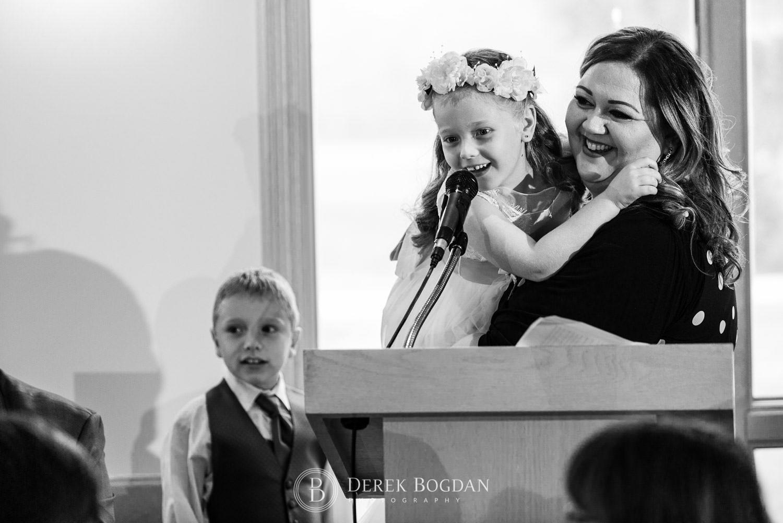 Bel Acres Golf Wedding reception speeches by kids