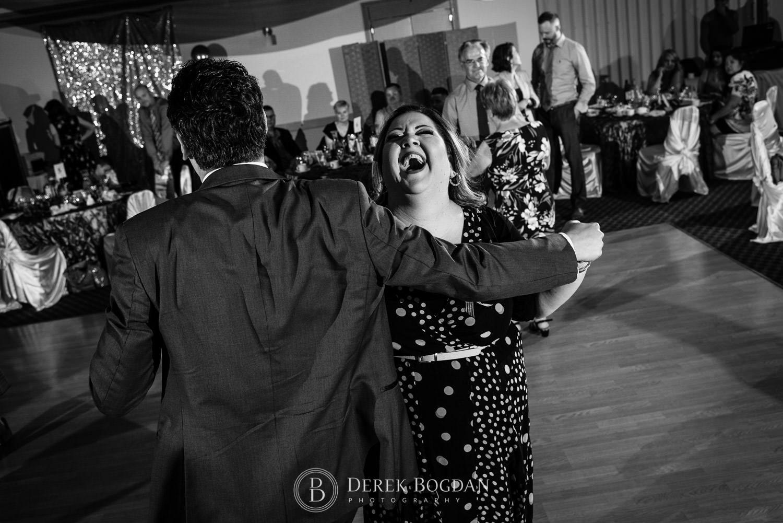 Bel Acres Golf Wedding couple having fun times dancing