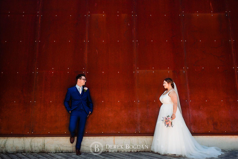 Bride and groom portrait Qualico Family Centre