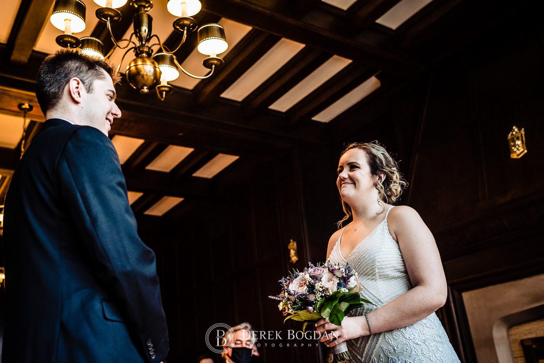 Manitoba Club wedding bride and groom smiles