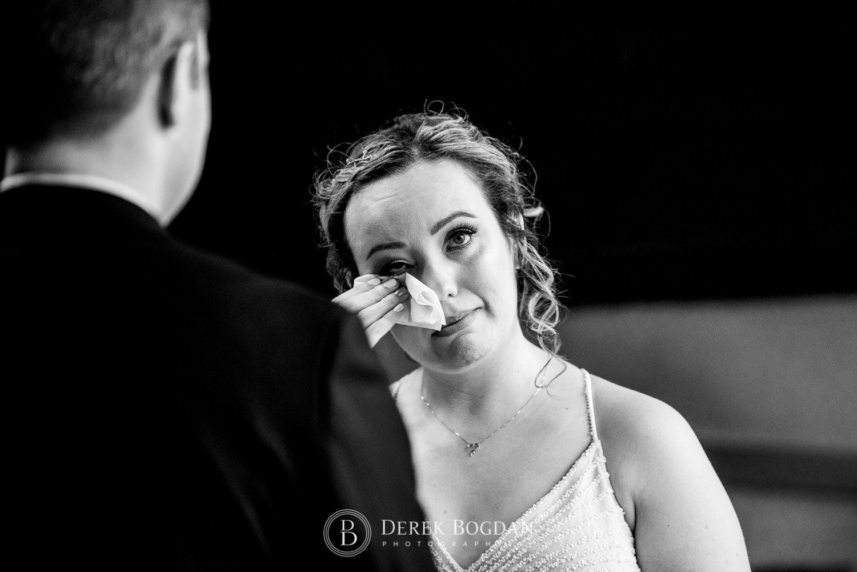 Manitoba Club Wedding Lenny and Tami tearing up