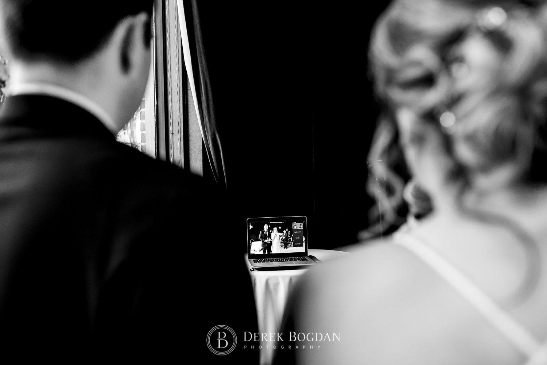 Manitoba Club Wedding post ceremony zoom conference