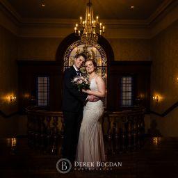 Manitoba Club Wedding post ceremony creative portrait bride and groom