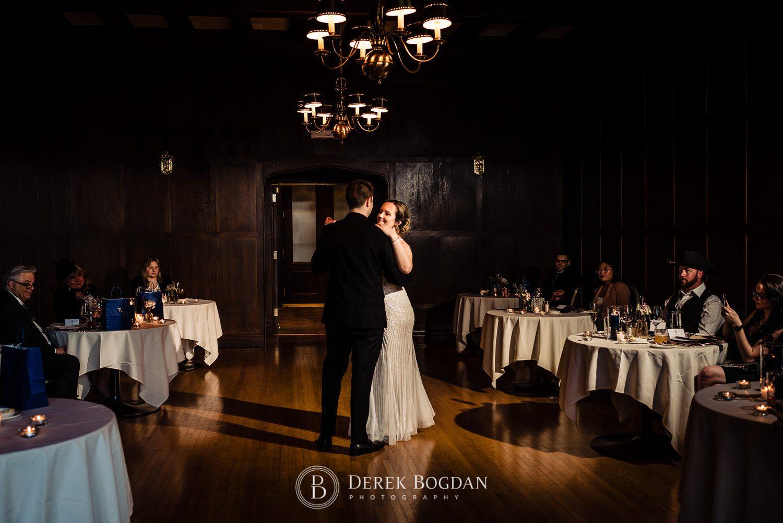Manitoba Club Wedding first dance bride and groom