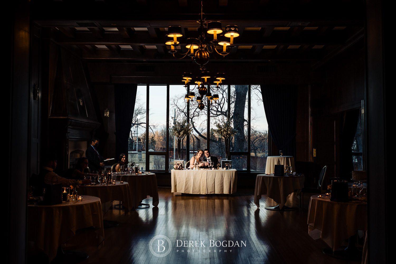 Manitoba Club Wedding reception head table bride and groom